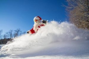 father-christmas-skiing